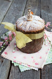 Traditional easter cake, Kulich, with angel Royalty Free Stock Images