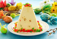 Traditional Easter dessert made from cottage cheese Stock Images