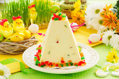 Traditional Easter dessert made from cottage cheese Royalty Free Stock Photo