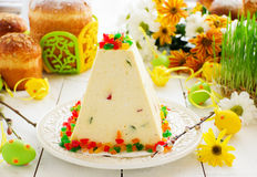 Traditional Easter dessert made from cottage cheese Stock Image