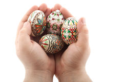 Traditional easter eggs Royalty Free Stock Photo