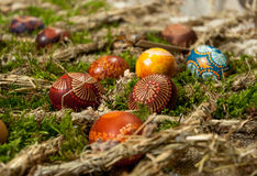 Traditional easter eggs Royalty Free Stock Image