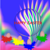 Traditional Easter eggs ,traditional colors Royalty Free Stock Images