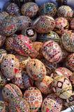 Traditional Easter handmade eggs Stock Photos