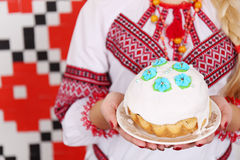 Traditional easter kulich Royalty Free Stock Images
