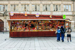 Traditional Easter market stall during Easter holidays Stock Photos