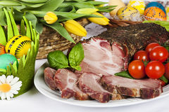 Traditional easter roasted pork Stock Image