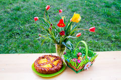 Traditional Easter Romanian cakes Royalty Free Stock Photos