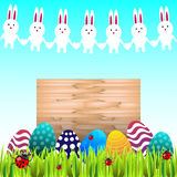 Traditional easter symbols Royalty Free Stock Images