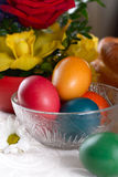 Traditional easter table settings Royalty Free Stock Photography