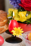 Traditional easter table settings Royalty Free Stock Images