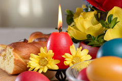 Traditional easter table settings Royalty Free Stock Image