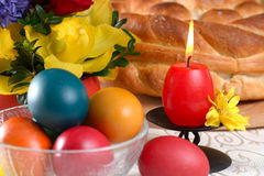 Traditional easter table settings Royalty Free Stock Photos