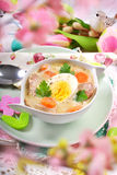 Traditional easter white borscht Stock Photography