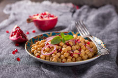 Traditional eastern chickpea salad Royalty Free Stock Photo