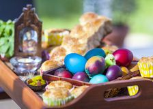 Traditional Easter holiday Christian Orthodox Church gift display royalty free stock images