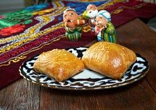 Traditional eastern food samsa. Stock Images