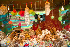 Traditional ecuadorian sweets stall Royalty Free Stock Images