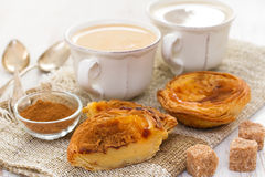 Traditional egg tart pastel de nata Royalty Free Stock Photography