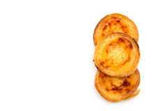 Traditional egg tart pastel de nata Royalty Free Stock Images