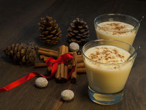 Traditional eggnog Royalty Free Stock Photo