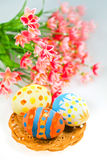 Traditional eggs  for Easter Stock Photos