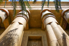 Traditional Egyptian Architecture in the park stock photo