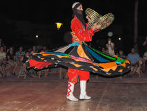 Traditional Egyptian dance known as Tanoura Show Stock Photography