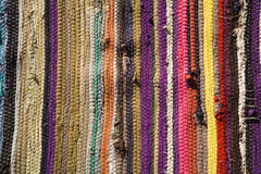 Traditional Egyptian self-made carpet. Stock Photos