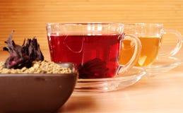 Traditional egyptian tea karkade stock images