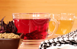 Traditional egyptian tea karkade Royalty Free Stock Photos