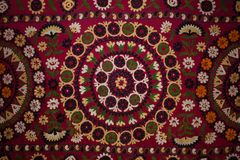 Traditional embroidered fabric Stock Images