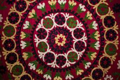 Traditional embroidered fabric. From Uzbekistan Stock Photography