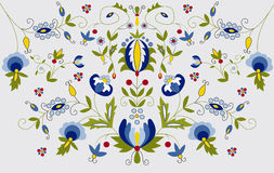 Traditional embroidery. Pattern in poland Royalty Free Stock Photos
