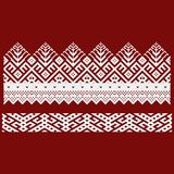 Traditional embroidery. Vector illustration of ethnic seamless ornamental geometric patterns for your design.  Stock Photography