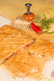 Traditional empanada gallega Royalty Free Stock Photos