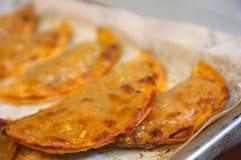 Tray of a typical spanish empanadillas Royalty Free Stock Photo