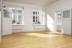 Traditional empty interior of an apartment or home. Photo realistic 3d interior scene stock photos