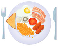 Traditional English breakfast Royalty Free Stock Photo