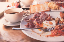 Traditional english breakfast in cafe Royalty Free Stock Photography