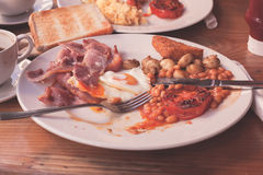 Traditional english breakfast in cafe Stock Images