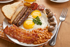Traditional English Breakfast Stock Image
