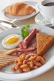 Traditional English breakfast Royalty Free Stock Photos