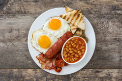 Traditional English breakfast.Top view Royalty Free Stock Images