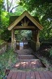 Traditional English church lychgate. Stock Photos