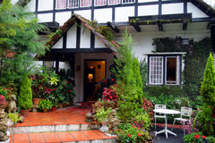 A traditional English cottage at Cameron Highlands, Malaysia Stock Image