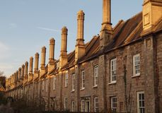 Traditional English Cottages, Wells Somerset Royalty Free Stock Photography
