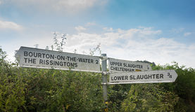 Traditional English Country road signs royalty free stock photography
