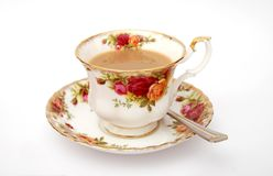 Traditional English cup of tea Royalty Free Stock Photo