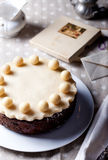 Traditional English Easter cake with marzipan Royalty Free Stock Photography